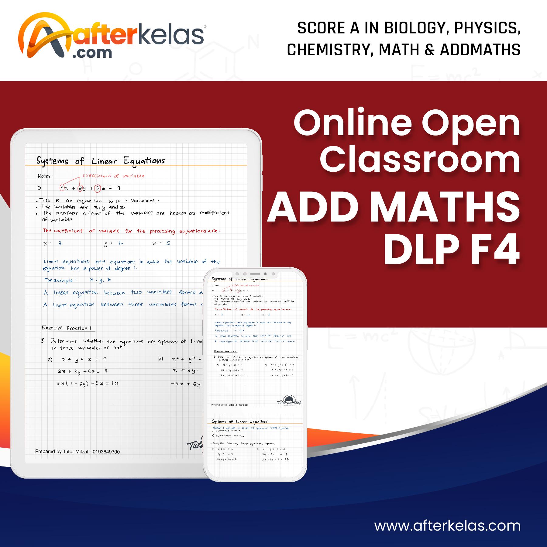 F4 add maths dlp